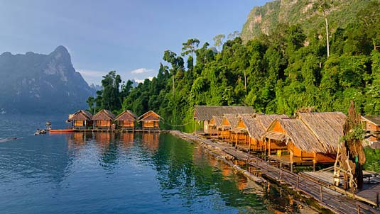 Raft houses at Khao Sok Lake