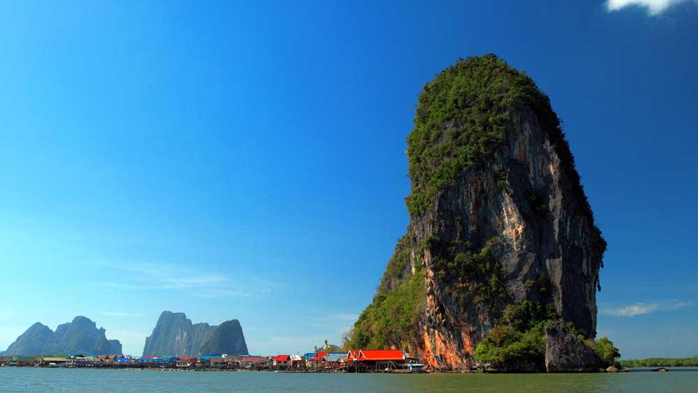 Floating village in Phang Nga Bay