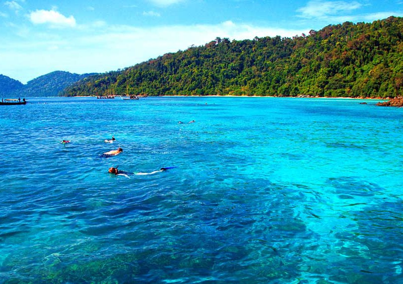 Snorkelling at the Surin Islands