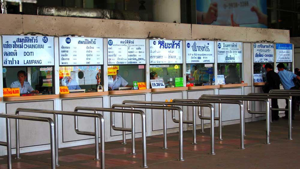 Ticket counter at Bangkok bus station