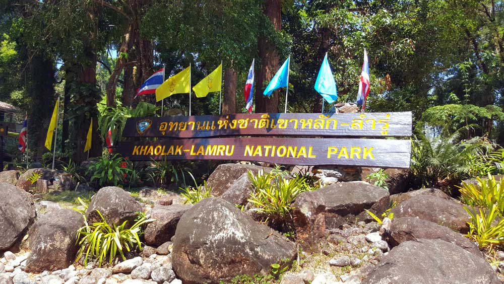 Khao Lak Lamru National Park sign