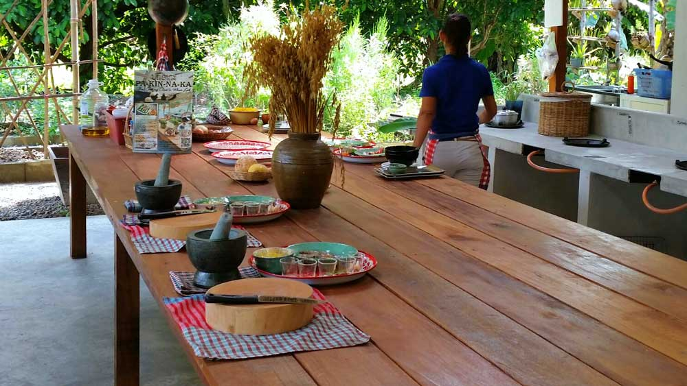 food preparation area