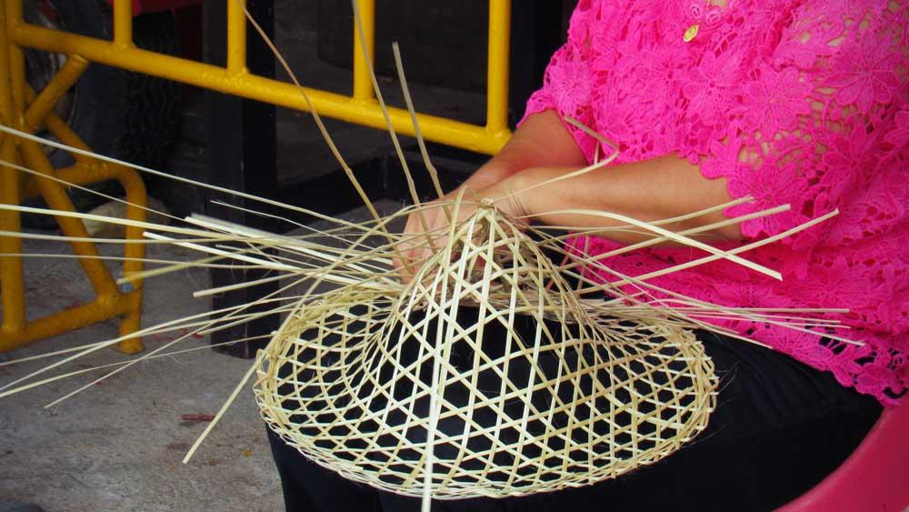 Weaving Thai hat