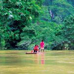 Bamboo rafting in Khao Sok National Park