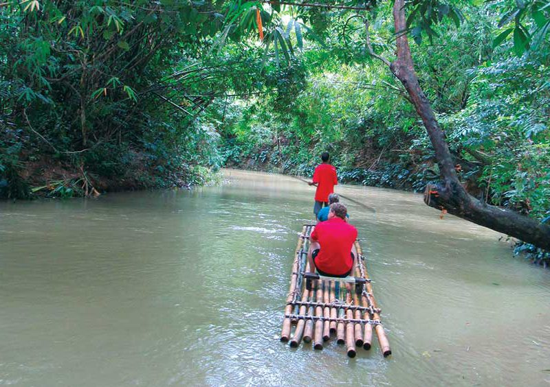 Bamboo rafting on this Khao Lak Tour