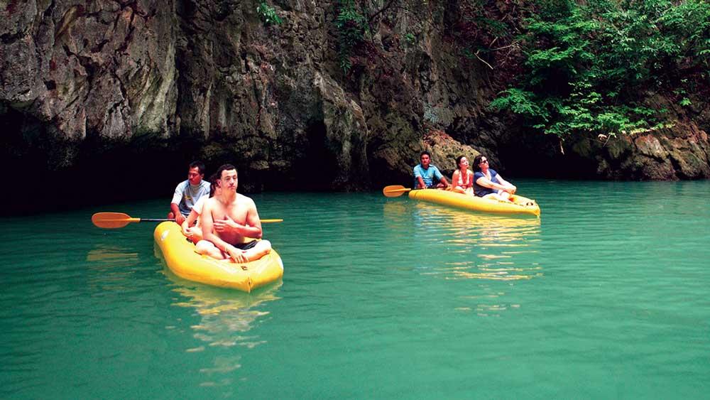 Canoeing around Phang Nga Bay