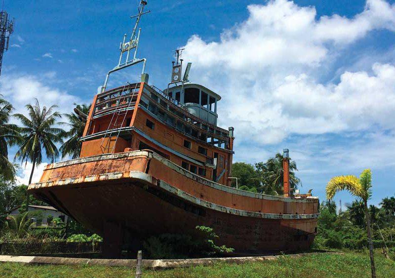 Tsunami fishing boat