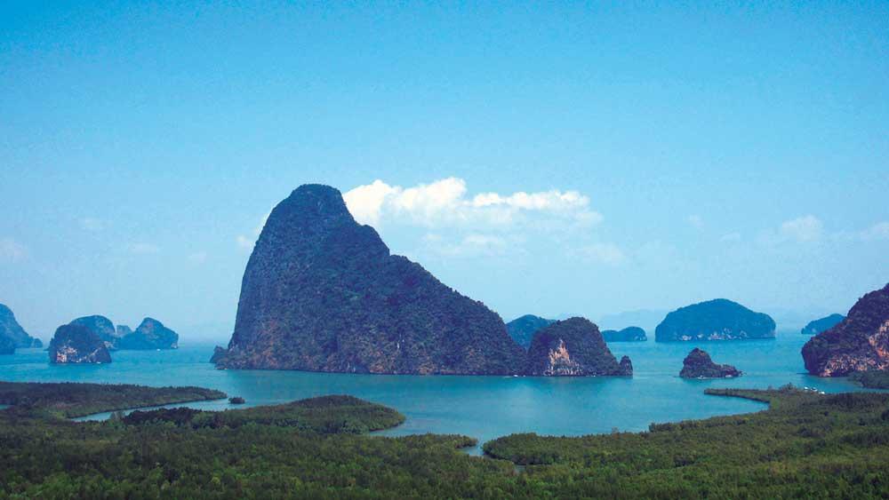 Breathtaking view over Phang Nga bay
