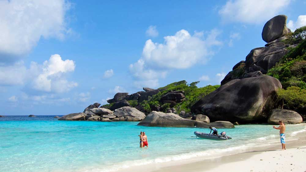 Taking a photo in the Similan Islands