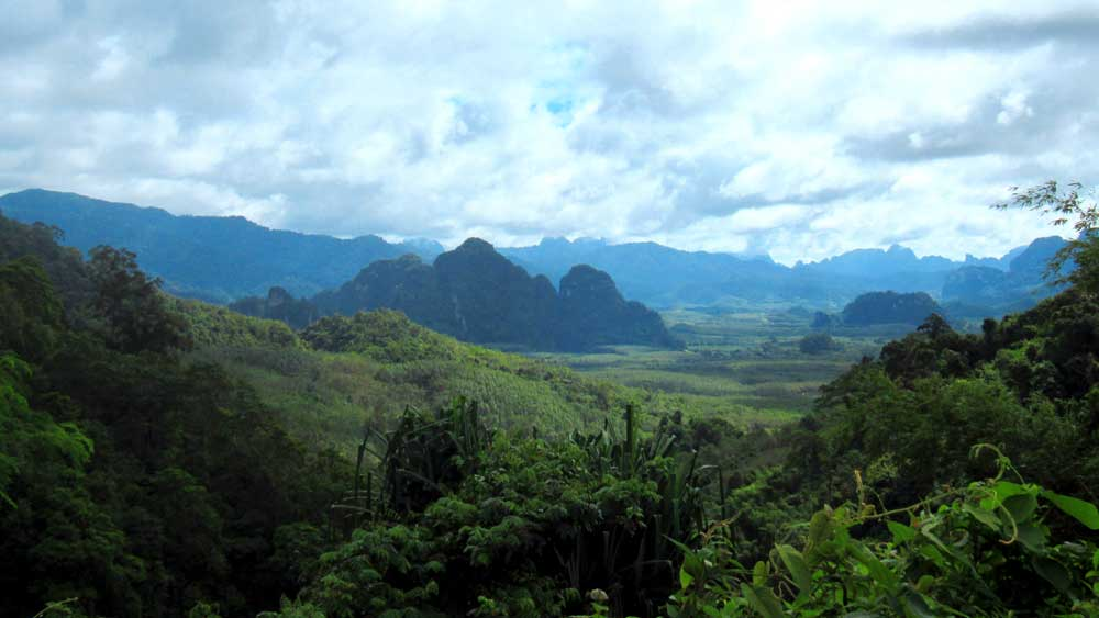 View on the way to the elephant sanctuary