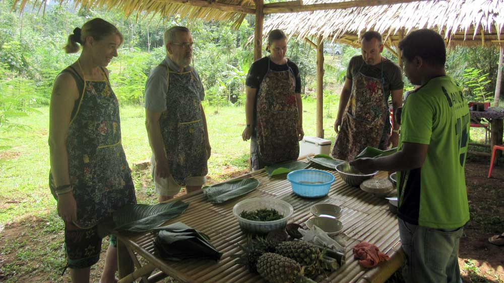 Jungle cooking class