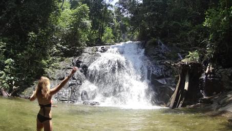 Johanna at the waterfall