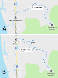 maps to chongfa watefall