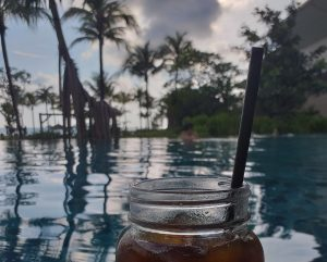 View from the poolbar, meridian, khao lak
