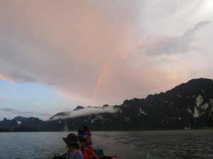 Rainbow view from the lontailboat when on the safari.